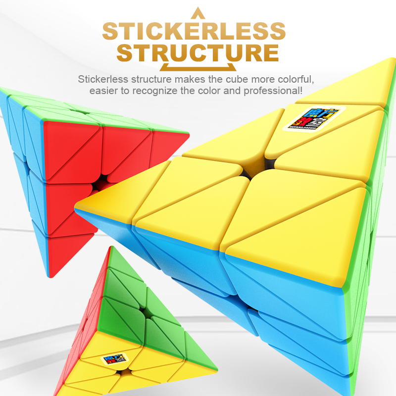 MoYu Triangle Cubing Classroom Meilong 3x3x3 Pyramid Cube Stickerless Magic Speed Professional Puzzle  Education Toys For Kids