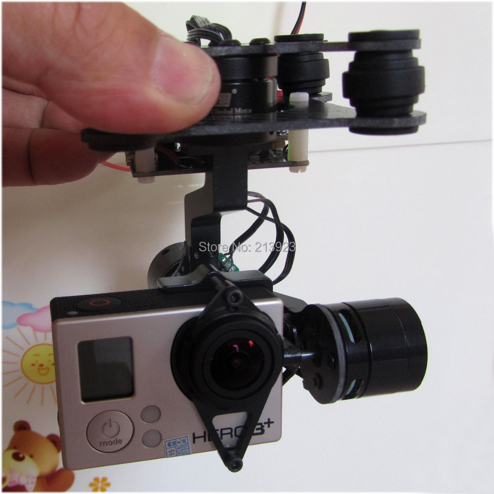 Ready to Fly 3 Axis Gopro Brushless Gimbal FPV Stablizer Alexmos V2.4 RTF Fully Assembled For Gopro3 Hero 3 - BIG Board upgrade debugging edition jiyi fpv g3 3d 3 axis gimbal for gopro hero3 3 hero4 aerial photography