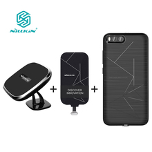 "For xiaomi mi6 case cover 5.15"" NILLKIN qi wireless charger pad + Magnetic wireless charger receiver case Portable Charger Pad"