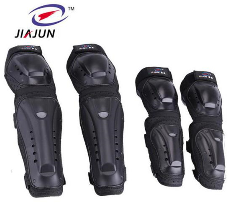 JIAJUN Motorcycle MTB BMX Bike Skating Skateboard Guard Extreme Sport Protective Gear Protector Elbow Pads + Knee Pads Set цены онлайн