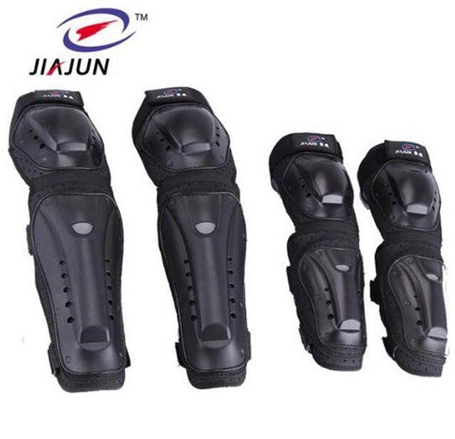 97484a33b1b JIAJUN Motorcycle MTB BMX Bike Skating Skateboard Guard Extreme Sport  Protective Gear Protector Elbow Pads + Knee Pads Set