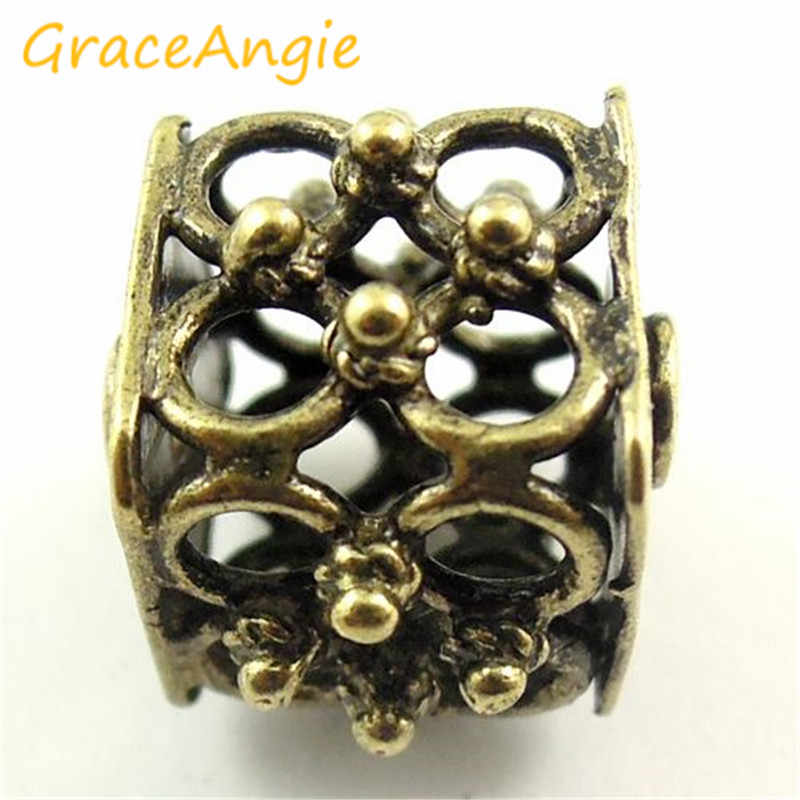 GraceAngie 8 шт./упак. античная бронза 2 мм Полые бусины с неоднородным рисунком ювелирных аксессуаров DIY для Свадебная вечеринка украшения