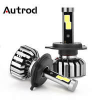 Autrod 2Pcs Car Headlights H4 High Low Light All In One Car Lamps 120W 8000LM COB