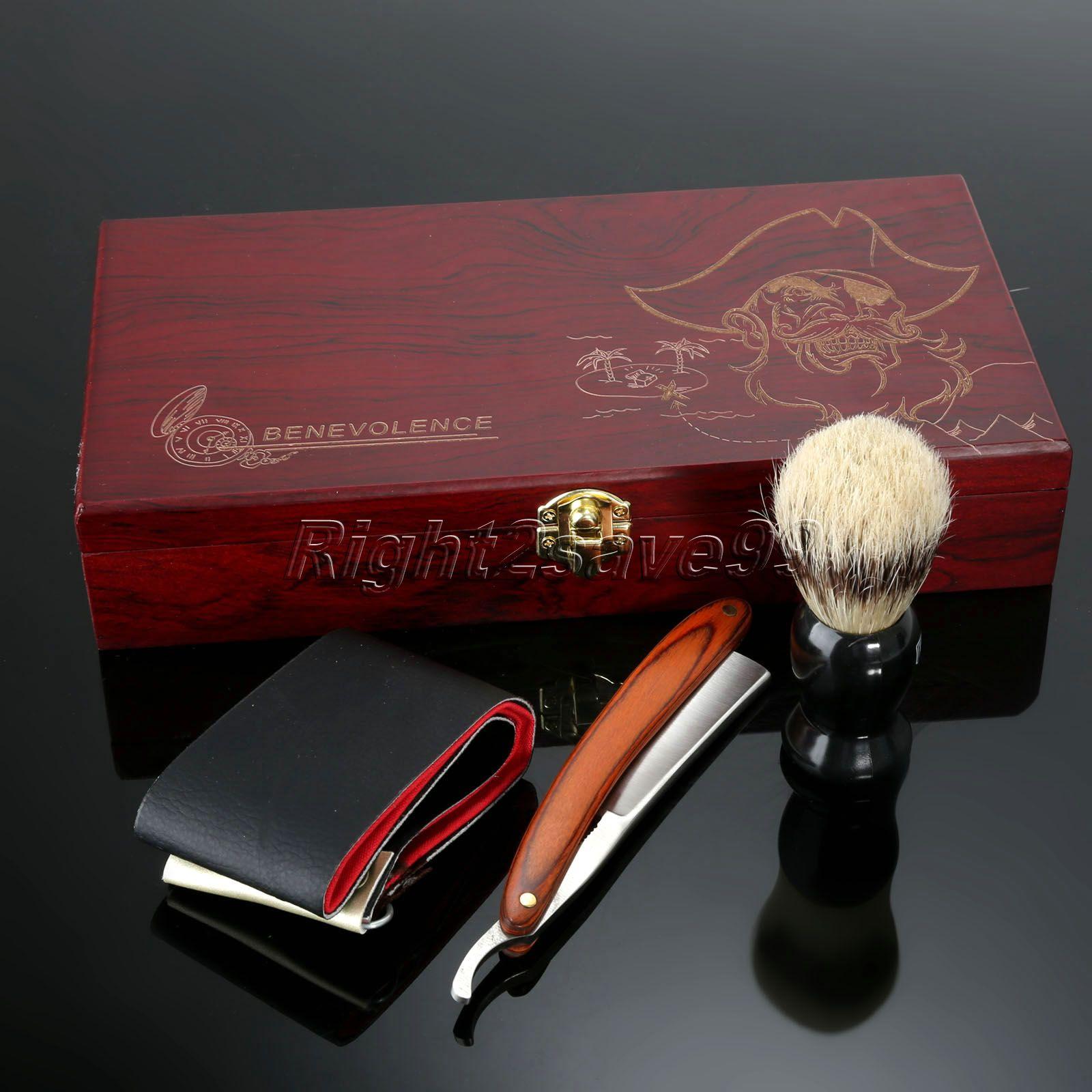 Nuevo Kit de caja de madera para afeitado 525883c7e25d