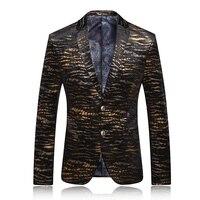 Модный костюм для Для мужчин Повседневные комплекты одежды классический Стиль Для мужчин марка Золотой Весна мужской вельвет высокое каче