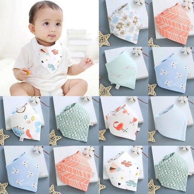 Baby Bibs High Quality Triangle Cotton Cartoon Character Animal Print Baby Bandana Bibs
