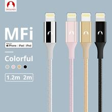 Snowkids MFi 케이블 번개 용 USB 케이블 iPhone 11X8 7 6 5 X XR XsMax SE 긴 케이블 지원 iOS 13 데이터 동기화