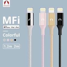 Snowkids MFi kablosu için USB kablosu yıldırım iPhone 11X8 7 6 5 X XR XsMax SE uzun kablo desteği kadar iOS 13 Data Sync