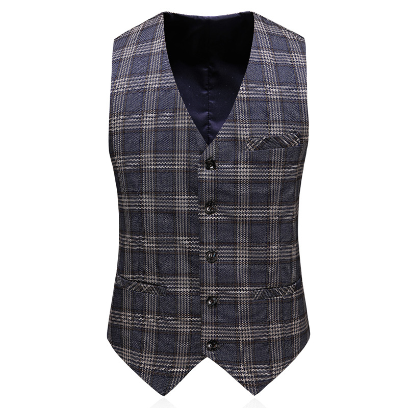 2019 Men 39 S Plaid Suit Set Three Piece High Quality Business Casual Fashion Classic British Men 39 S Suit Set in Suits from Men 39 s Clothing