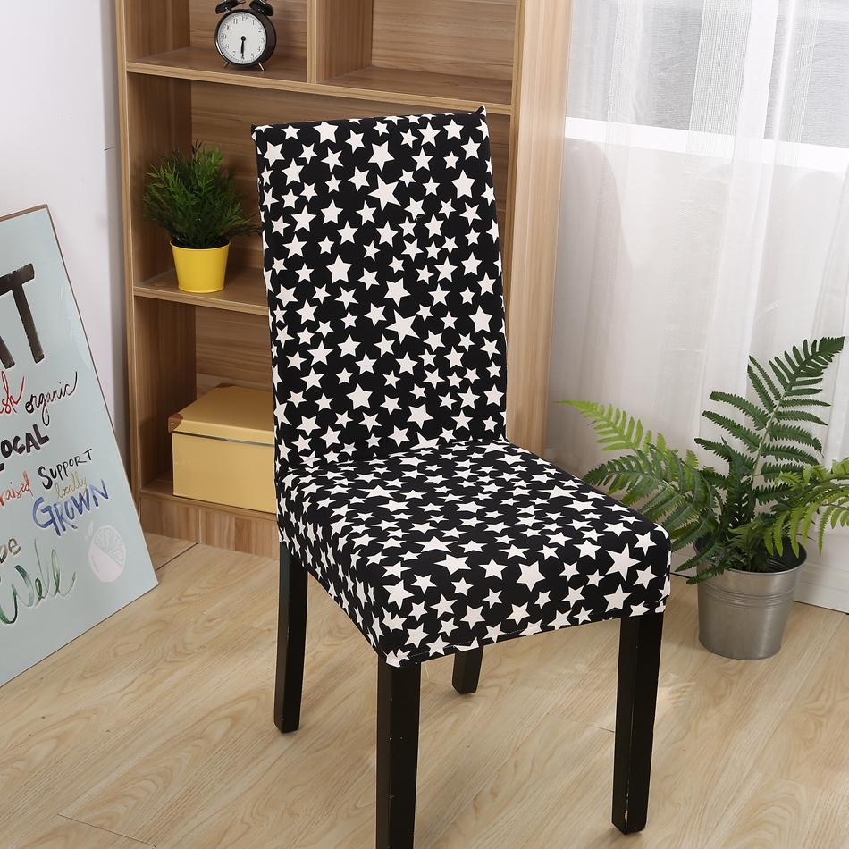 fxxk unid estrellas cubierta de la silla de polister elstico de comedor cubiertas de la