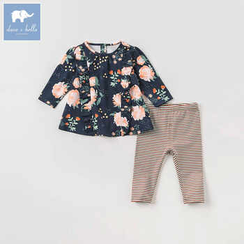 DBA7979 dave bella autumn infant toddler baby girls floral clothes kids long sleeve clothing sets children 2 pcs suit - DISCOUNT ITEM  50% OFF All Category