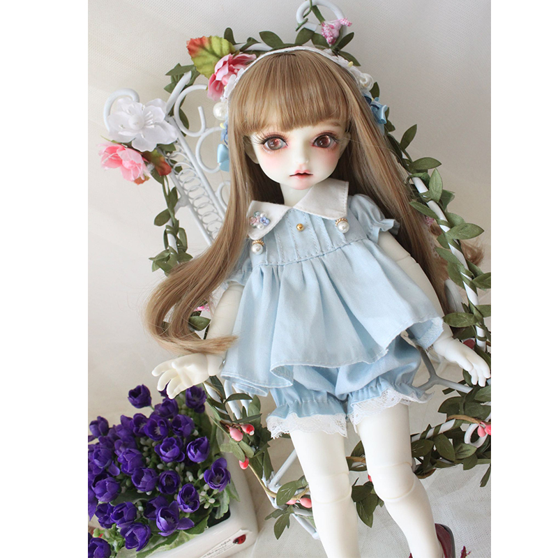 "Straight 1//3 BJD  SD /"" Bangs 8-9 Heat Resistant: Ice Blue"