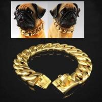 23/30mm Miami Cuban Chain Pet Dog Neckace Collars Choker Pitbull Bulldog Medium Large Dogs Pitbull Heavy Duty Daily Training