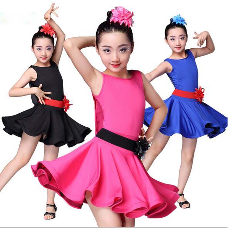 Latin Dance Clothes Summer Dresses Girls Children Kids Latino Dress Abiti Da Ballo Latino Americano Per Donna Ballroom Latin