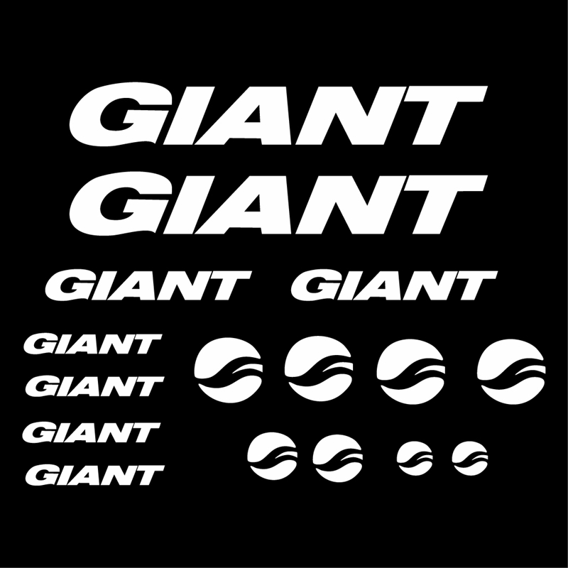 Bicycle Vinyl Cut Decal Sticker For GIANT Art Decor , Stickers Decals Bicycles Bikes Cycles Frames Forks Mountain MTB BMX