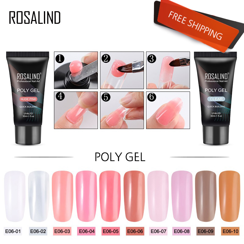 ROSALIND 30ml Acrylic Poly Extension Gel For Manicure Nail Finger Extension Crystal Soak-off Quick poly nail gel polish