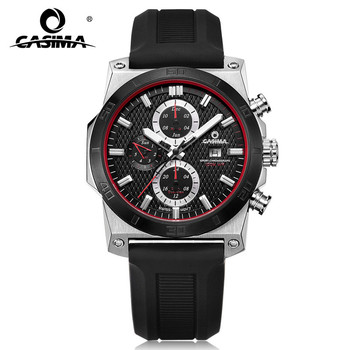 Fashion Luxury Brand Watches Men Casual Charm Cool Sport Mens Quartz Wrist Watch Calendar Silicone Waterproof 100m CASIMA 8307
