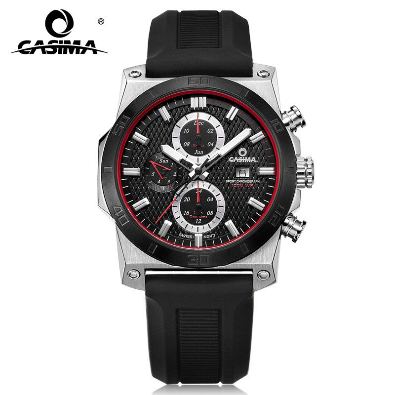 Fashion Luxury brand watches men casual charm cool sport mens quartz wrist watch calendar silicone waterproof 100mCASIMA 8307 танцевальный инвентарь dance charm 100