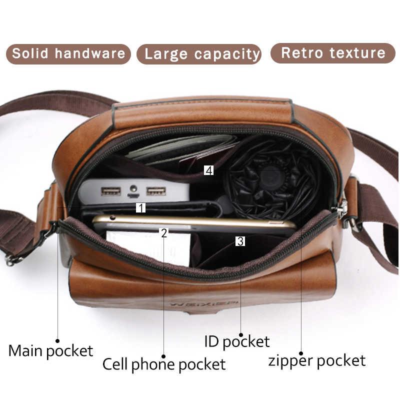 Men's Shoulder Bag PU leather handbags 2019 Men Waterproof Messenger Bags For Men Fashion Style Soild Brown Black Flap Hot
