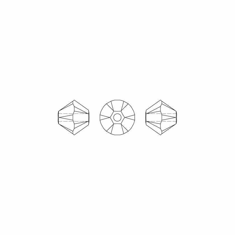 Cuentas de encanto marrón 100 piezas 4mm Austria cuentas de bicono de cristal 5301 pulsera DIY accesorios de fabricación de joyas S-9