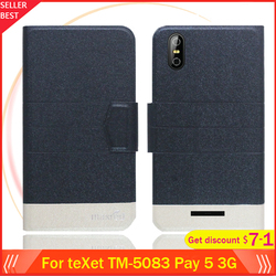 На Алиэкспресс купить чехол для смартфона 5 colors hot!! texet tm-5083 pay 5 3g case 5дюйм. flip ultra-thin leather exclusive phone cover fashion folio book card slots