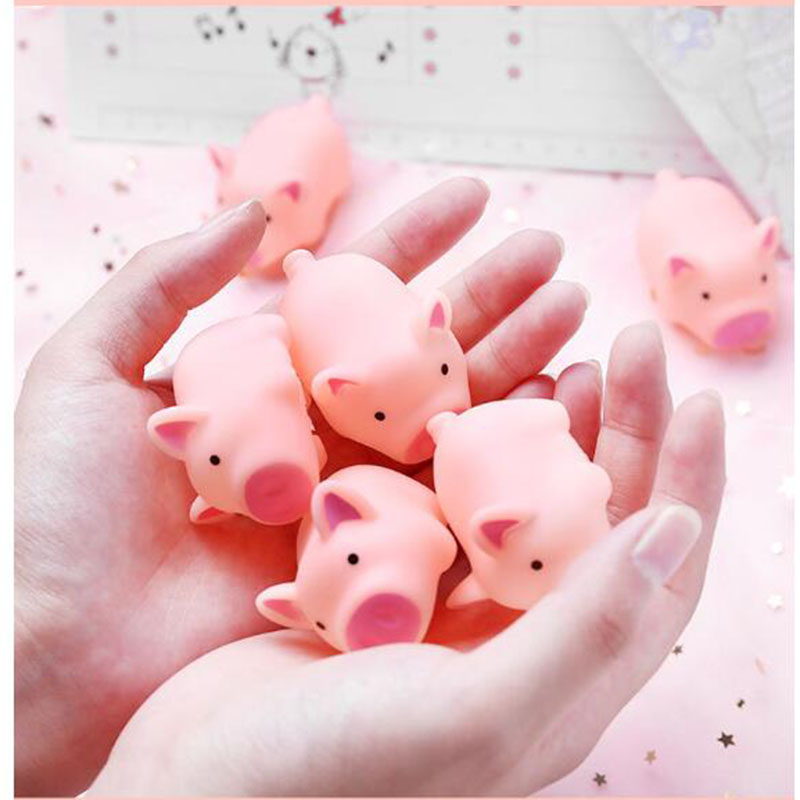 10 Piece Squishy Slow Rising Animals Pig Squeeze Vocal Toy Anti Stress Lot 2018 New Squishi Kawaii Slow Rising Squishiest Toy