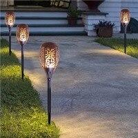 2 W 96 LEDs Solar Lampen Outdoor Tuin Landschap Gazon Licht Waterdicht Licht Sensor Solar Fakkel Lamp met Solar Panel