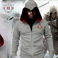 Fashion Men Assassins Creed Hoodie Homens Solid Hooded Full Sleeve Hoodies Cotton Zipper Mens Hoodies and Sweatshirts Sportswear