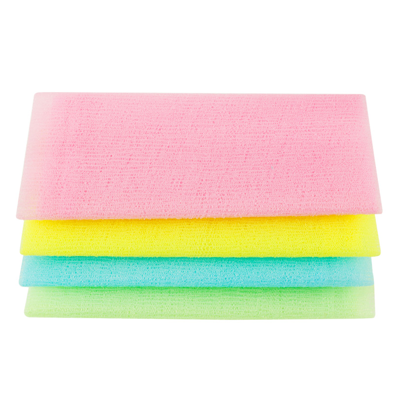 1PC Nylon Mesh Bath Shower Body Washing Clean Exfoliate Puff Scrubbing Towel Cloth Scrubber Soap Bubble For The Bath Like Loofah 2