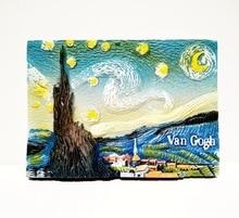 Van Gogh constellation three-dimensional attractions featured tourist souvenir refrigerator stickers