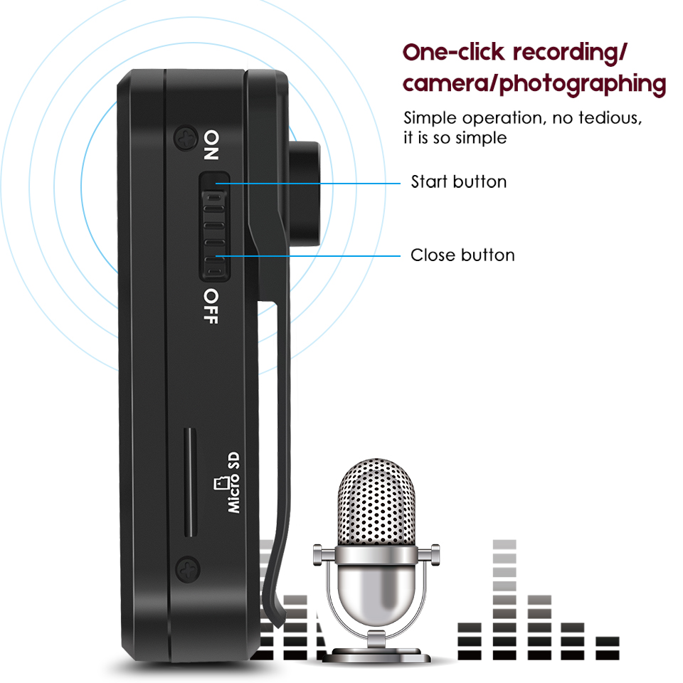 Audio Video Dictaphone Registrar Handle Camera Video Recording Noise Reduction Clip Design Hidden Digital Recorder Pen Portable аксессуар peak design camera clip microplate площадка