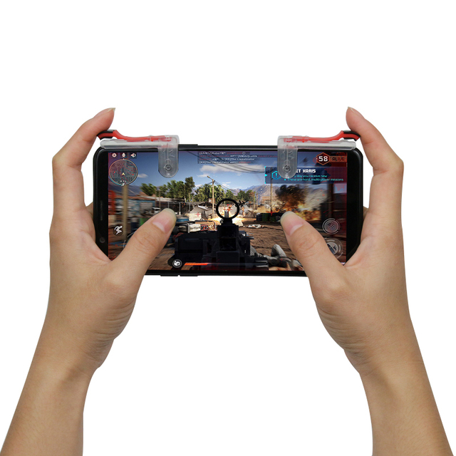 Fire Button Gaming Trigger For PUBG Mobile Game L1R1 Shooter Controller For Android/Ios Smart Phone Aim Key For Iphone Xiaomi