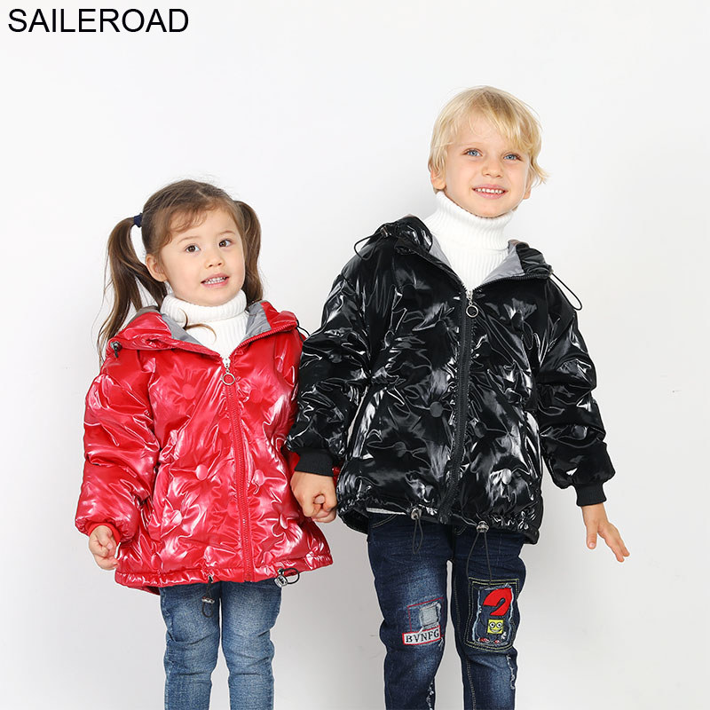 SAILEROAD 3-9Year Down Jacket for Girl Boy Winter Light Fur Park Winter Coat Girl Long Down Jacket Coat a Hood 2018 Warm Clothes 2016 women s winter luxury down coat w a hood 90