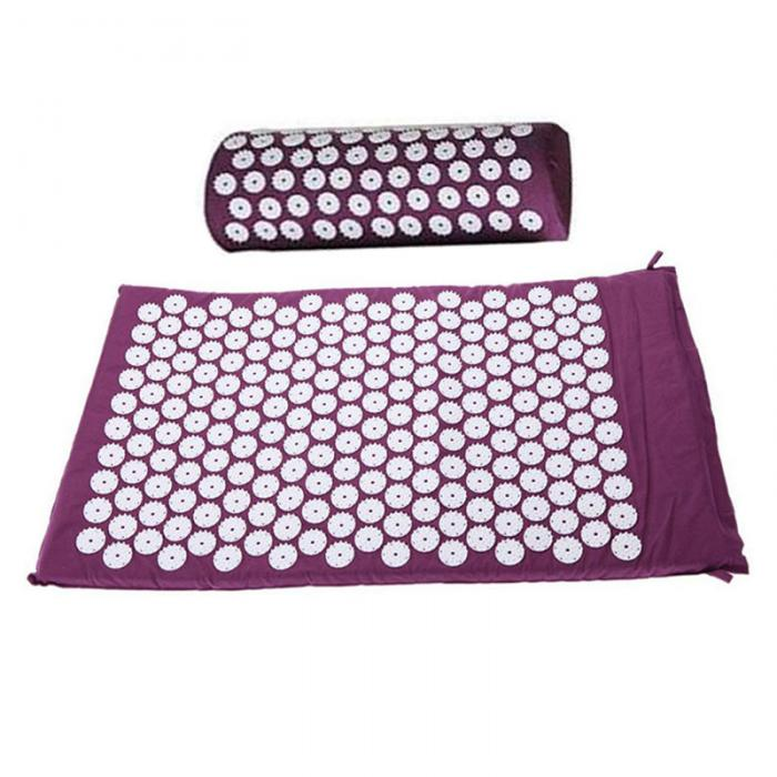 Massage Cushion Acupressure Mat Relieve Stress Pain Acupuncture Spike Yoga Mat with Pillow/ Without Pillow YF17 2