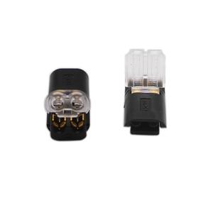 Image 2 - Freies Verschiffen 5 100 Pcs 2 Pin Way Frühling Scotch Lock Anschluss 24 18AWG Draht für LED Streifen Schnell Splice stecker Kabel Crimp