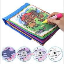Cerita bayi Kain Kain Tenang Sihir Mencoret-coret Air Menggambar Tikar Mainan Ulangi Lukisan untuk Anak-anak Pendidikan Awal Mainan Anak Gadis Hadiah