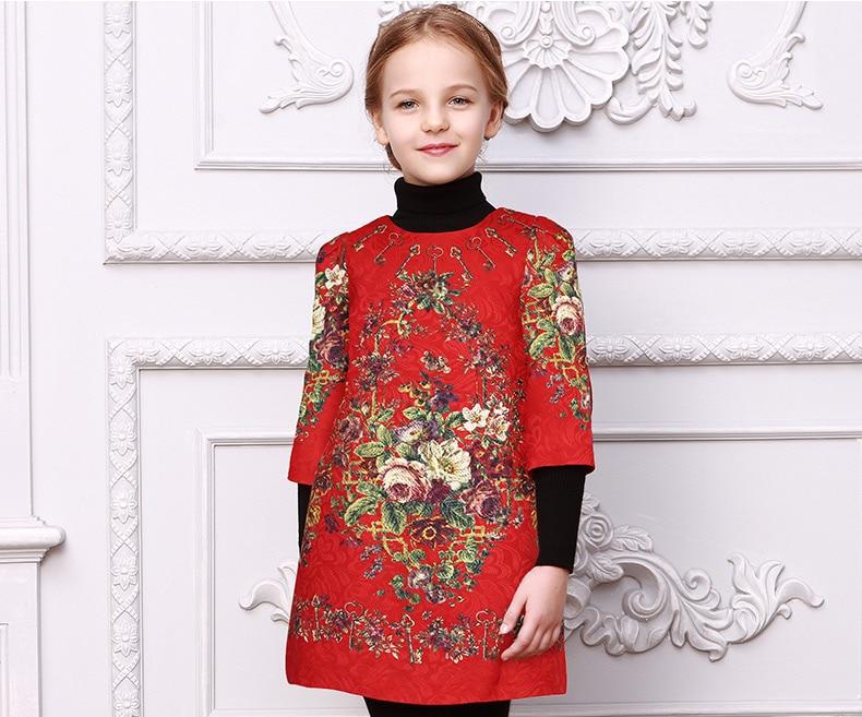 Малыша девушки платья Детская одежда 2017 фирменное платье принцессы для девочек одежда печать дети платье 53