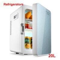20 л мини-холодильник автомобиля домой двойной Применение компактный автомобильный холодильник 12/220 V Температура вариации F-L18SA Портативный ...