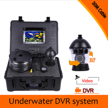 (1 set) HD 1000TVL 7 inch Colorful display screen Night version waterproof underwater Fishing Camera DVR System CCTV 30M cable