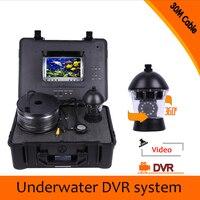 (1 conjunto) HD 1000TVL 7 polegada tela Colorida versão Noite à prova d' água Câmera subaquática Da Pesca DVR Sistema de CCTV 30 M de cabo|cable waterproof|cable color|cable hd -