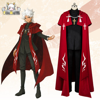 Fate/Apocrypha Shirou Kotomine Silver Lizard cosplay costume red coat cool man