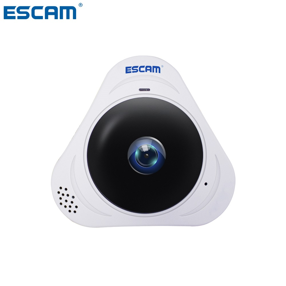 все цены на ESCAM Q8 White HD 960P 1.3MP 360 Degree Panoramic Monitor Fisheye WIFI IR Infrared Camera With Two Way Audio/Motion Detector онлайн