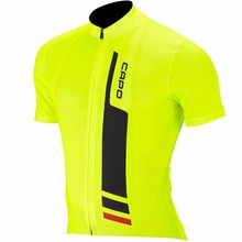 PRO Team Men's Cycling Jerseys Short Sleeve Cycling Jersey Team Cycling Bike Bicycle Shirts Clothing For Men Fluo Yellow Color