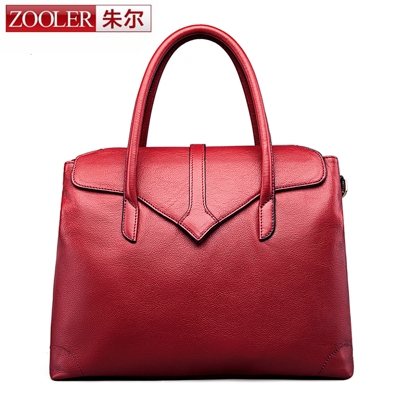 ZOOLER Real Cow Leather Ladies Handbags Women Genuine Leather bags Totes Messenger Bags High Quality Designer Luxury Brand Bag zooler 2017 new arrival genuine leather handbags woman design top quality crossbody bag luxury brand red ladies bags hs 3211