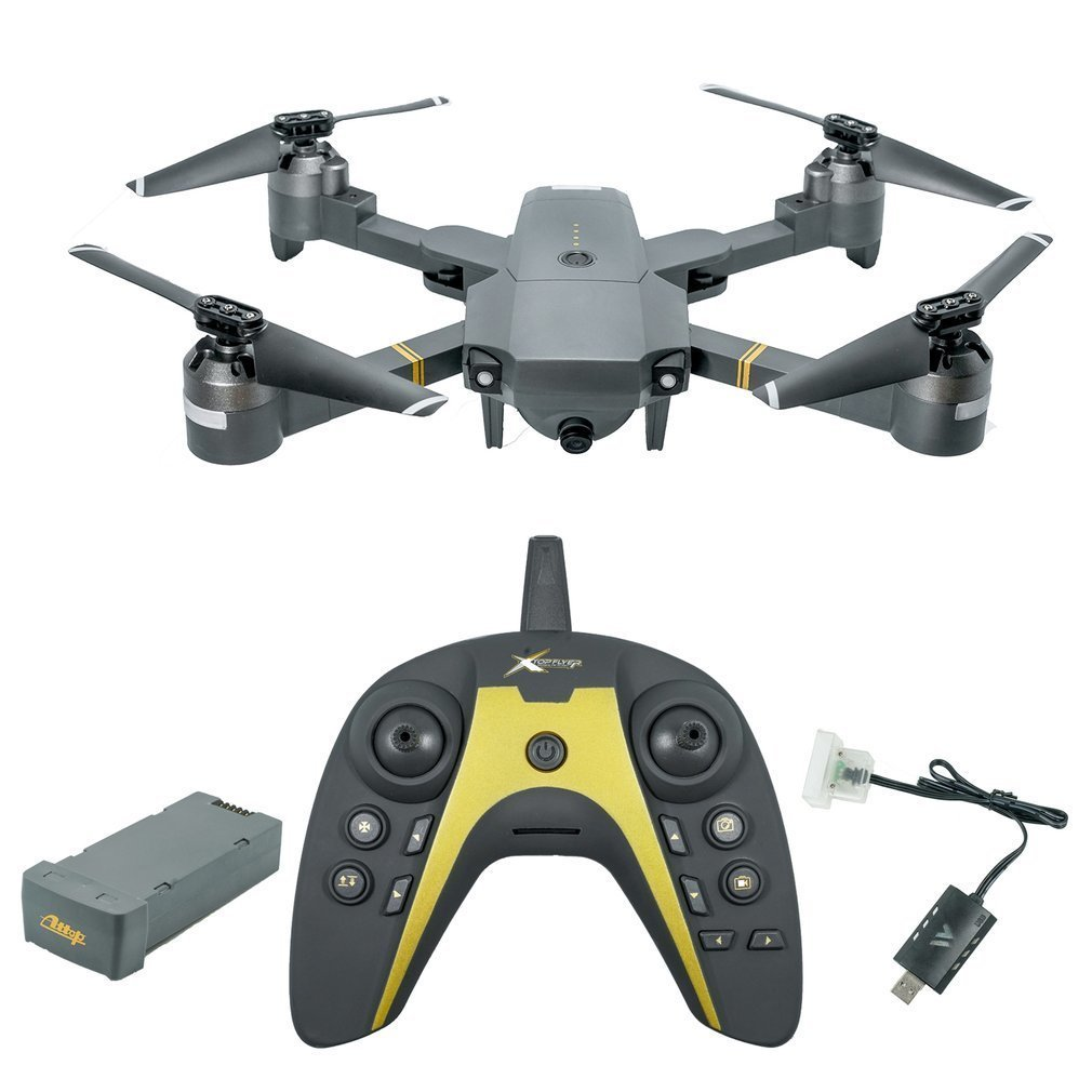 XT-1 WIFI 2.4Ghz FPV 1080P HD Camera Folding RC Quadcopter With Gravity Induction Fixed Height VR Mode Real-time TransmissionXT-1 WIFI 2.4Ghz FPV 1080P HD Camera Folding RC Quadcopter With Gravity Induction Fixed Height VR Mode Real-time Transmission