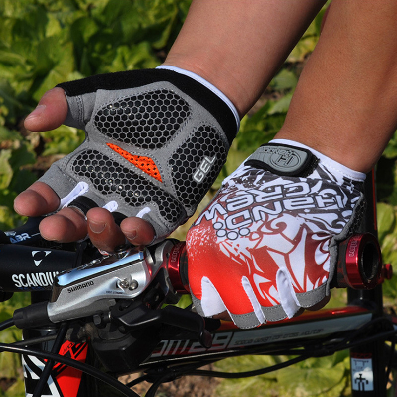 HandCrew Outdoor guantes ciclismo Cycling Gloves Half Finger Bike Racing Gloves Bike gloves men for women xxl spakct bike cycling men s gloves winter full finger gloves bike bicycle guantes ciclismo racing outdoor sports black new motor