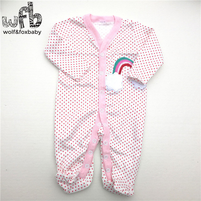 Retail 3pcs/lot 0-12months long-Sleeved Baby Infant cartoon footies bodysuits for boys & girls