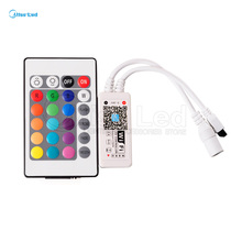 24key controller + LED rgbw mini wifi smart controller 5v-28v for RGBW led strip Phone app control