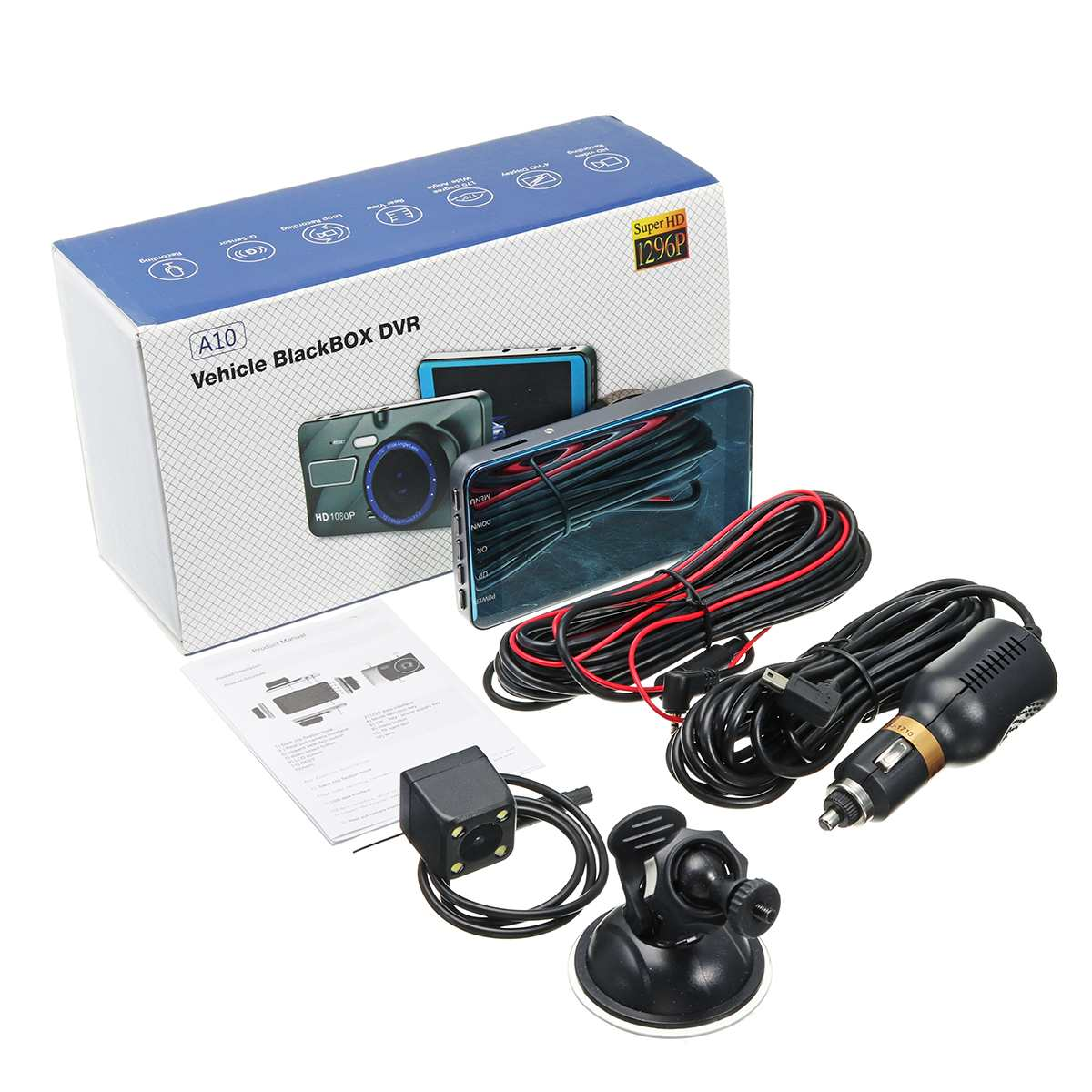 Dash Cam New Dual Lens Car DVR Camera Full HD 1080P  4