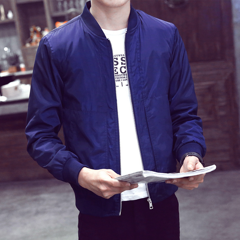 Men's Fashion Spring autumn Wear outerwear jackets mandarin collar Jacket man Loose Motorcycle Coat Zip Outwear